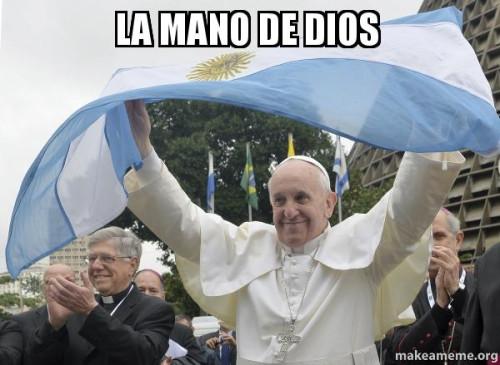 Pope Francis Mano de dios