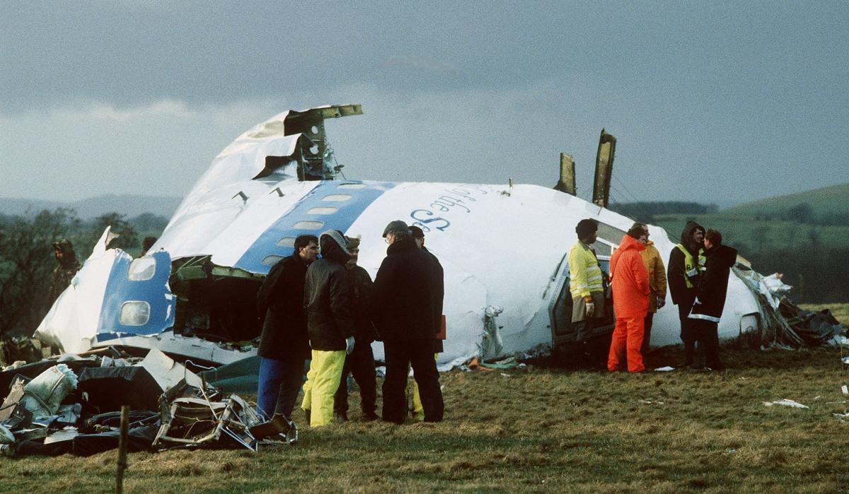Wreckage of Flight 103