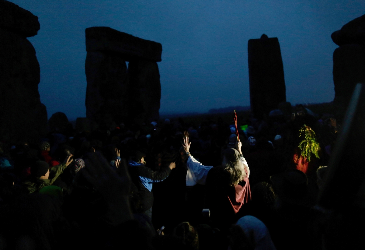 Druids gather at Stonehenge for 2013 Winter Solstice