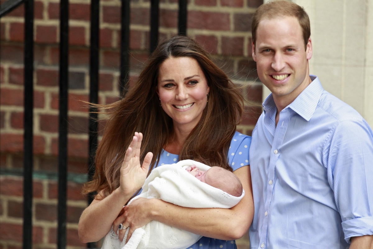 Kate Middleton, Prince George and Prince William.
