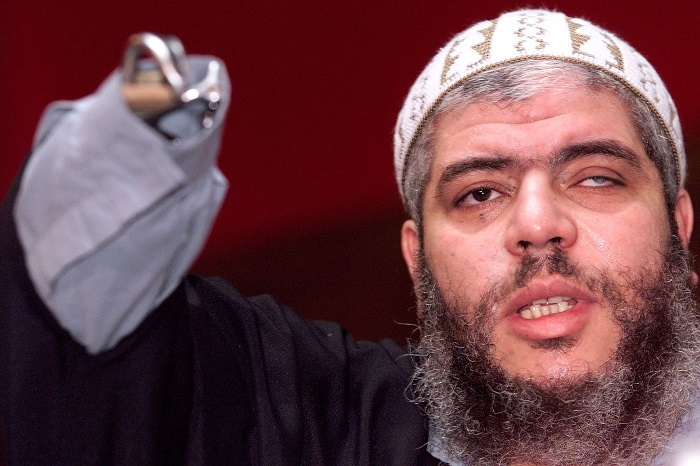 Egyptian-born Abu Hamza, 41, who has a distinctive metal claw replacing one of his hands