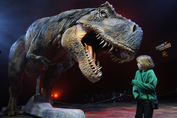 Life-size robot dinosaurs on Walking with Dinosaurs.