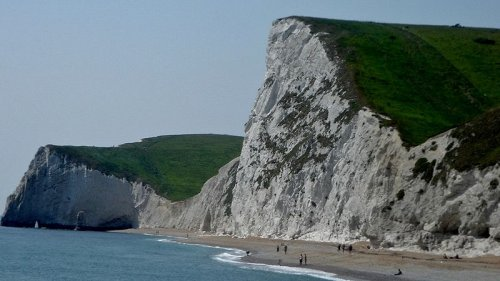 Gad Cliff, on the Isle of Purbeck in Dorset on the Jurassic Coast, Dorset, England.