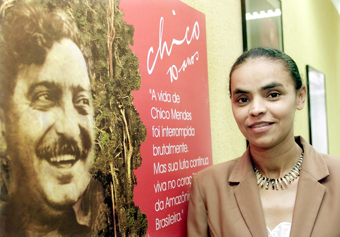 Mendes' associate Marina Silva, who served as Brazil's environment minister between 2003 and 2008.