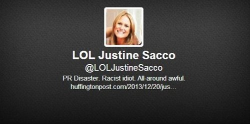Justine Sacco on Twitter