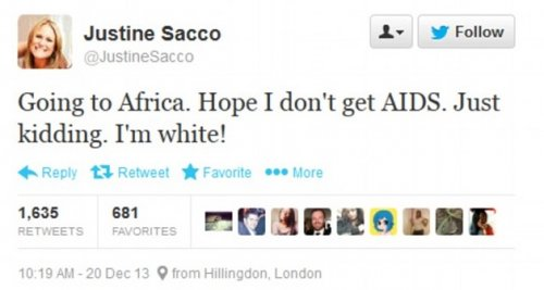 Justine Sacco tweet