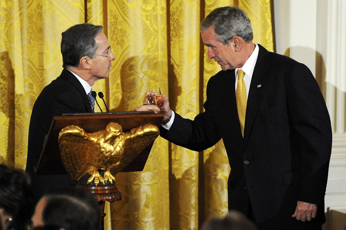 Bush and Uribe