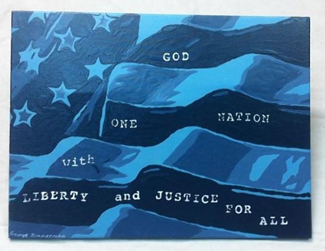 Painting by George Zimmerman.