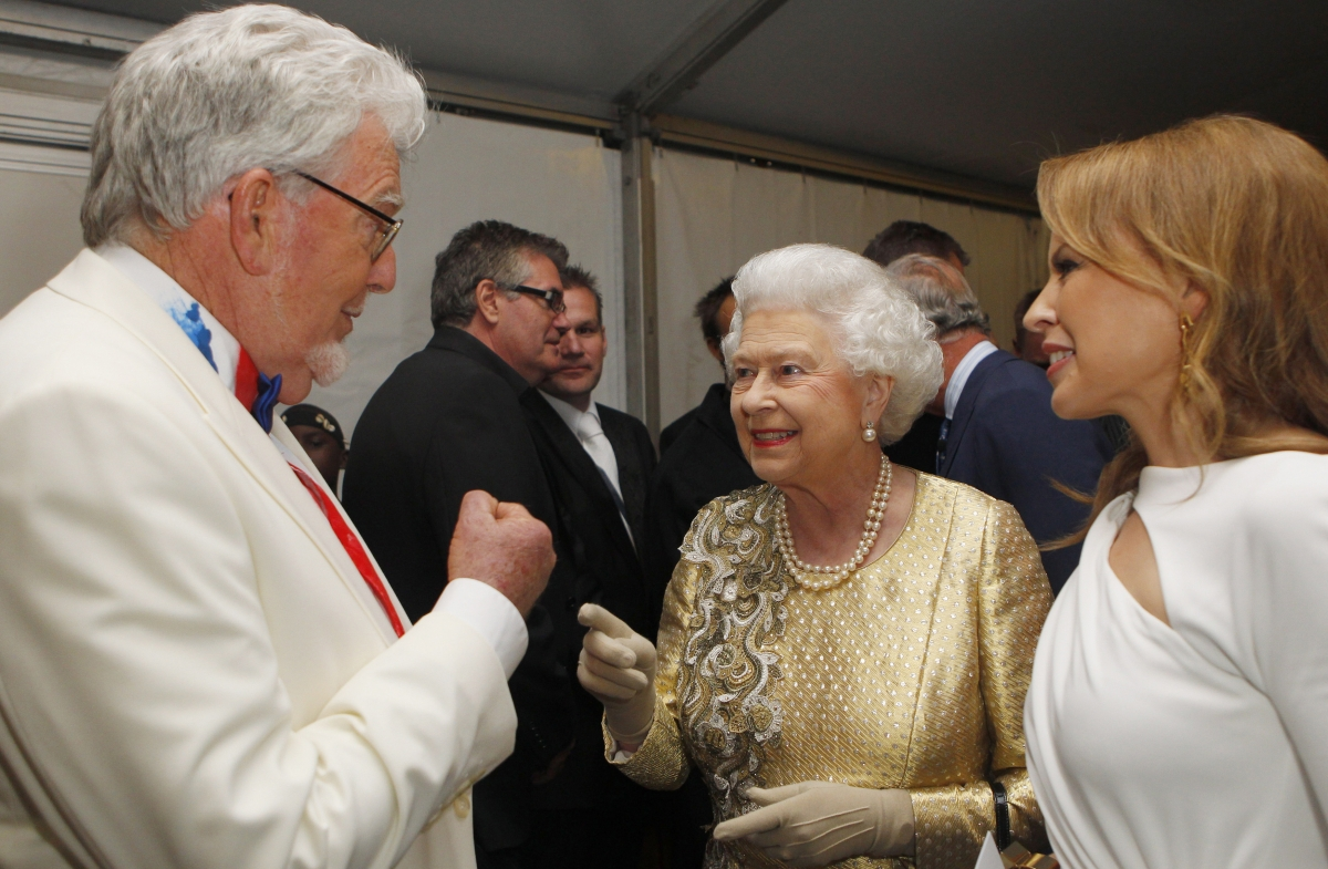Rolf Harris and Her Majesty the Queen at the Diamond Jubilee, last year