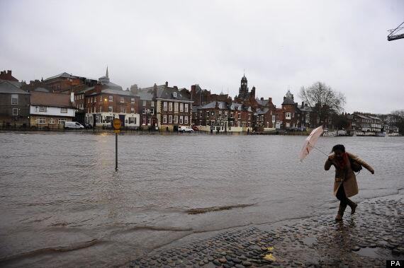 Flood Warnings Issued  After Storm Batters UK
