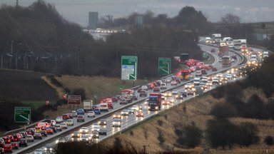Road closures have caused severe disruption  during the Christmas getaway.