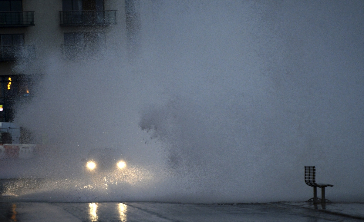 Storms batter Scarborough, North Yorkshire