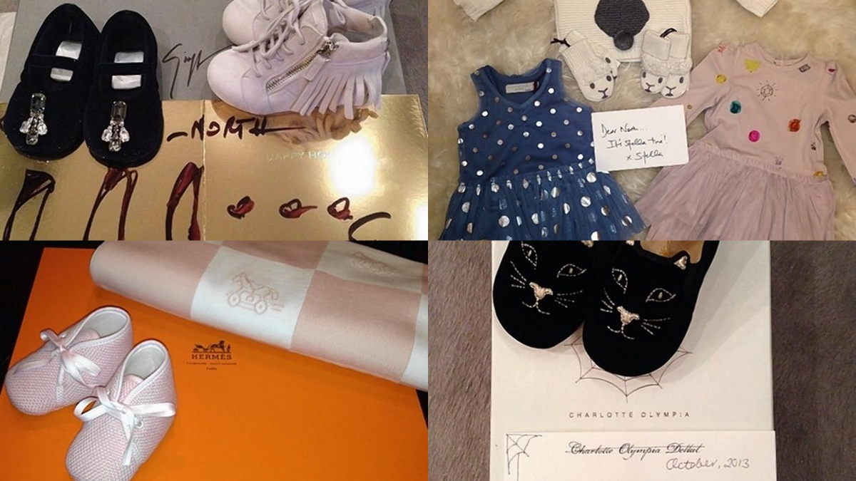 Hermes Baby Gifts Uk : North west kardashian showered with christmas gifts