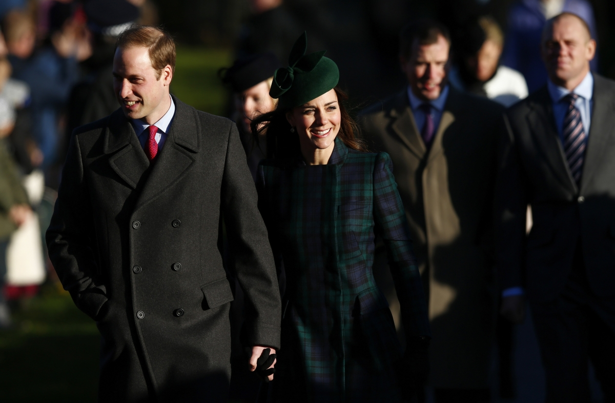 Prince WIlliam and Kate Middeleton at  Sandringham