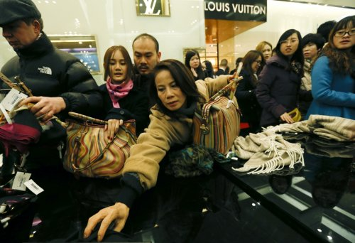 Bargain Hunters at London's Selfridges