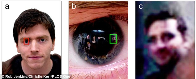 Image gained through zooming in on a test subject's pupil (University of Glasgow)