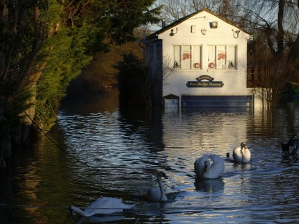 Houses have been flooded during UK storms