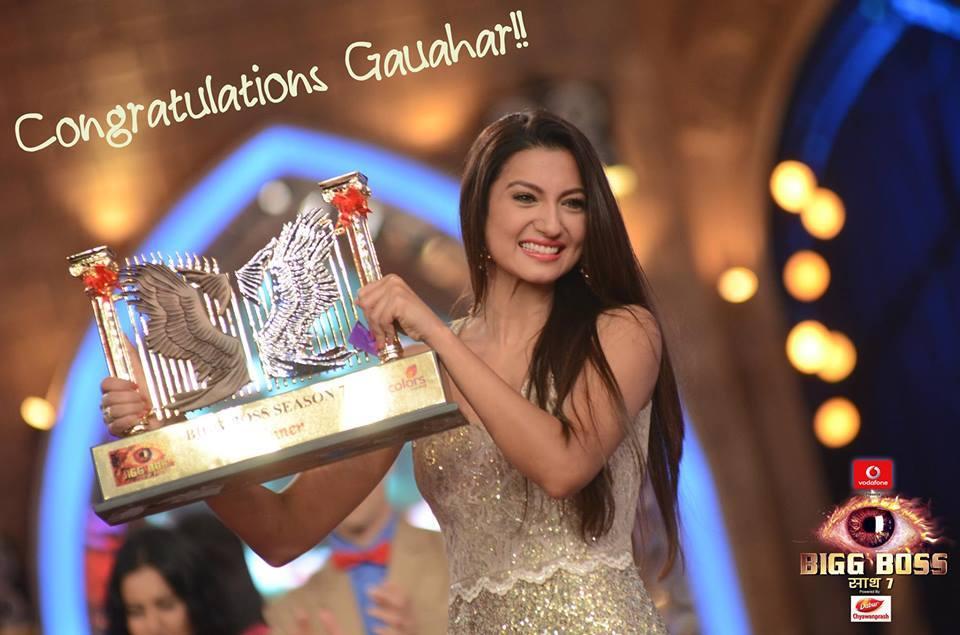 Gauhar Khan wins Bigg Boss 7