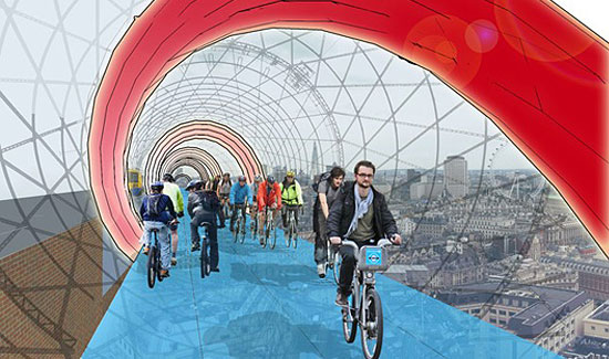 Skycycle is aimed at speeding up journeys and creating new routes above the streets of London.