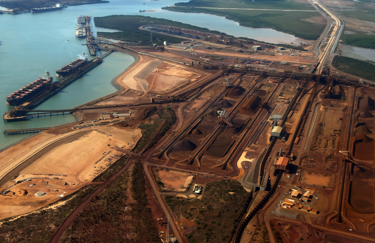 Shipping dock at Port Hedland