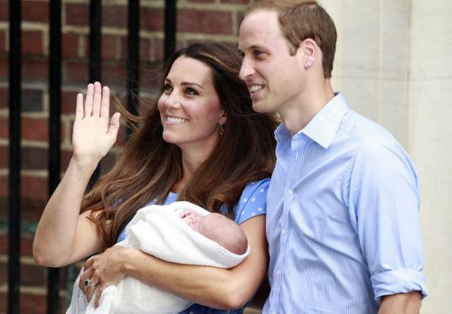 Kate and William present new-born baby Prince George to the world in July