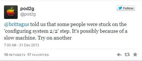 Evasi0n7 iOS 7 Untethered Jailbreak: How to Fix 'Configuring System 2/2 Error'
