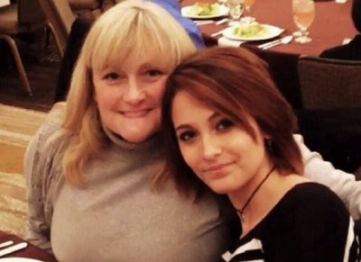 Paris Jackson with mother Debbie Rowe