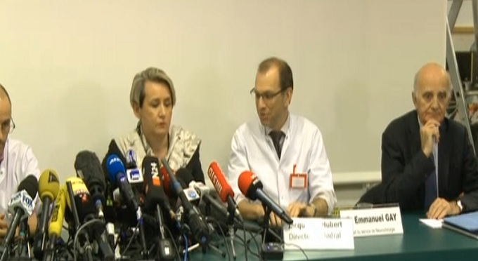 Doctors who are treating Michael Schumacher at Grenoble hospital