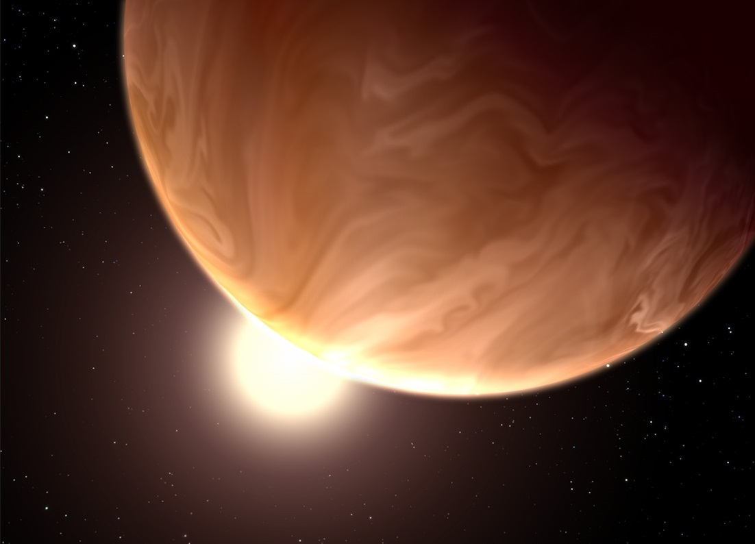 artist's view of exoplanet GJ 1214b