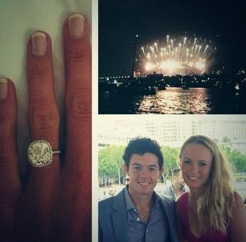 Tennis star Caroline Wozniacki and golfer Rory McIlroy are engaged to marry.
