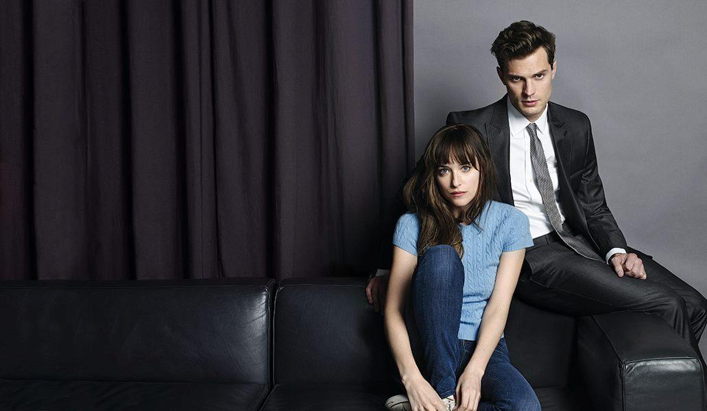 Dakota Johnson and Jamie Dornan star in Fifty Shades of Grey