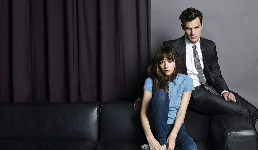 Dakota Johnson and Jamie Dornan star in Fifty Shades of Grey