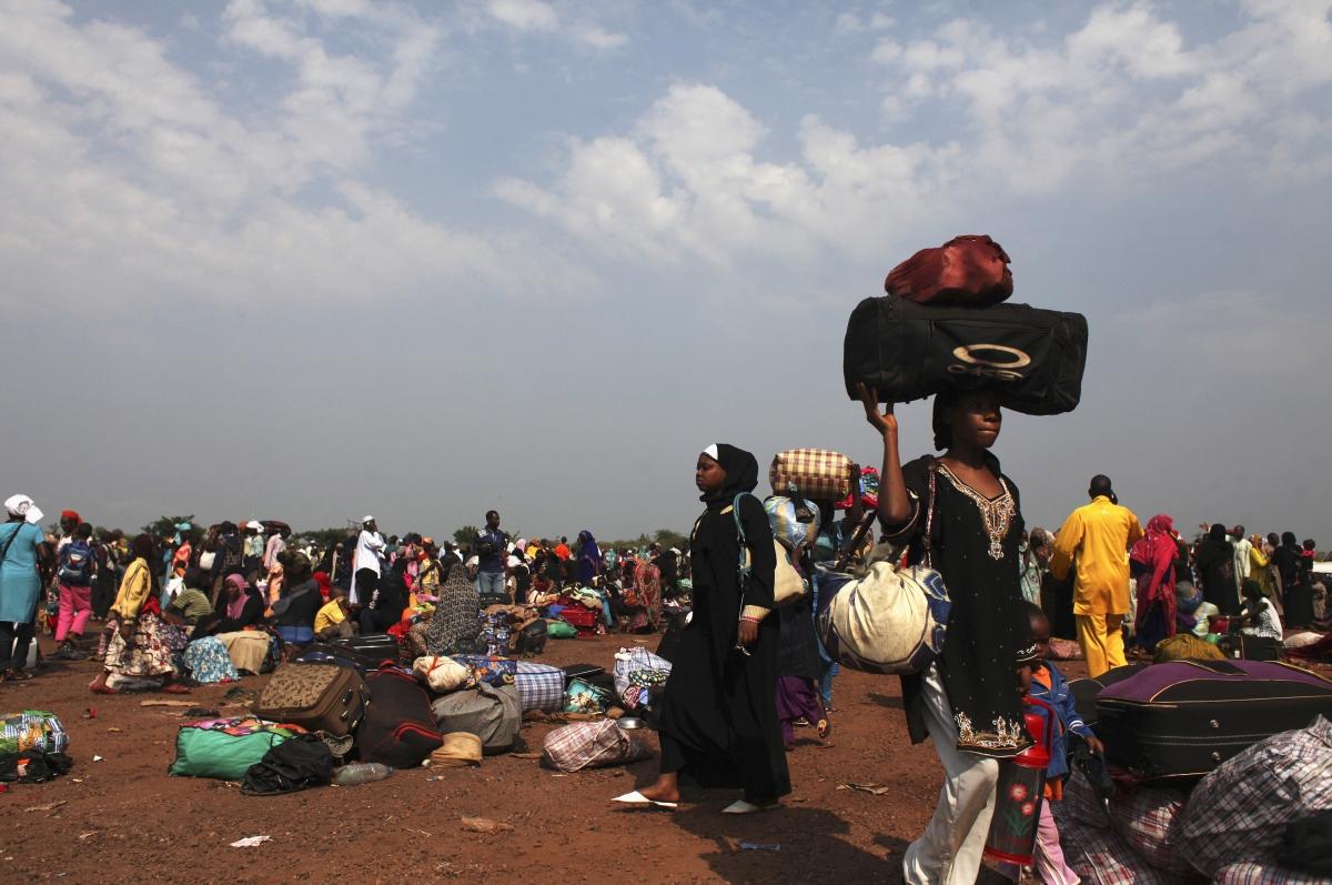 Bangui displaced people