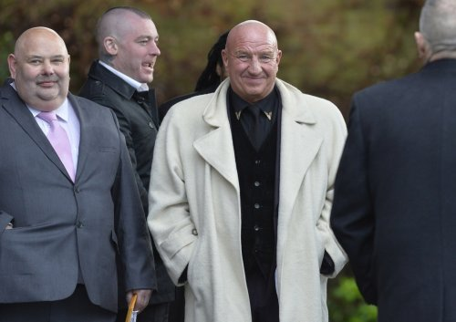 Self proclaimed reformed gangster Dave Courtney attended the funeral of Ronnie Biggs, the Great Train Robber