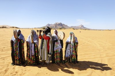 A Tuareg band performs folkloric songs