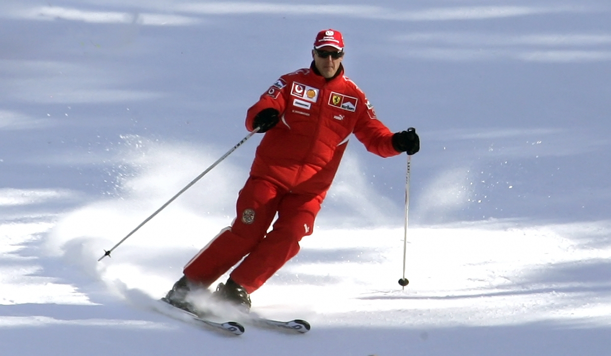 Keen skier Michael Schumacher crashed during a family holiday in Meribel, in the French Alps