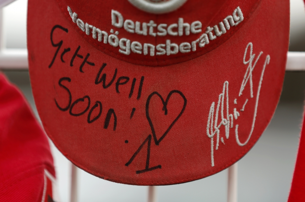 A cap marking the 45th birthday of seven-times former Formula One world champion Michael Schumacher.
