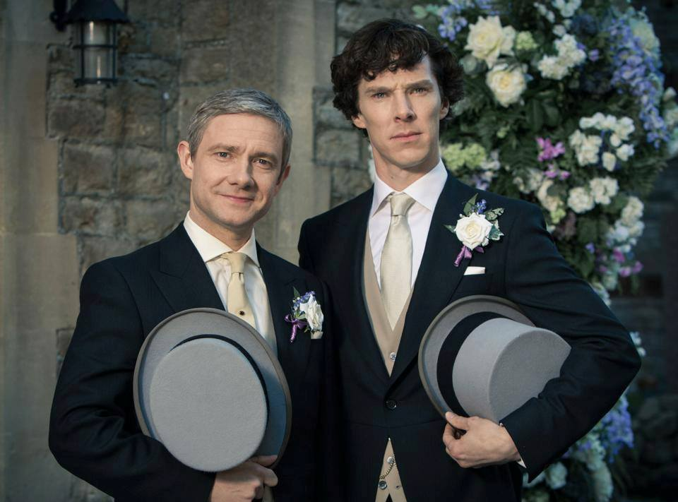 Watson with his best man Sherlock in episode 2 of season 3