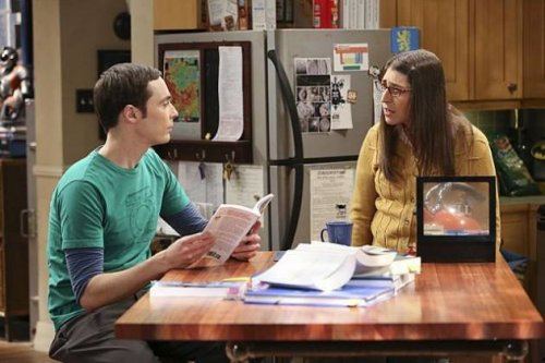 Sheldon and Amy in Big Bang Theory season 7