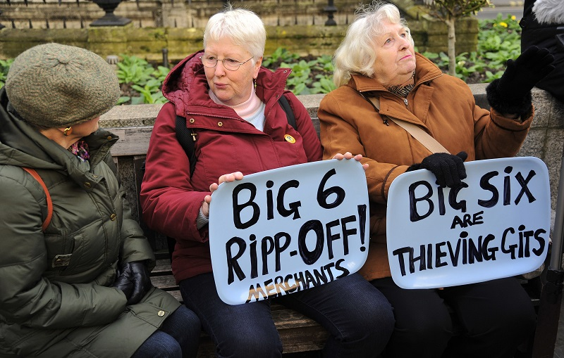 Pensioners protest