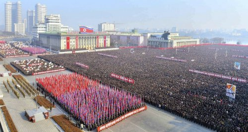 North Korea crowd