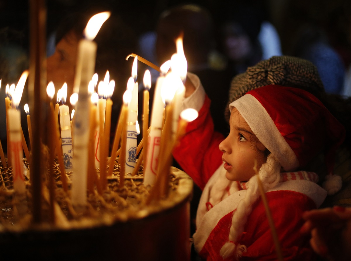 Bethlehem child Santa