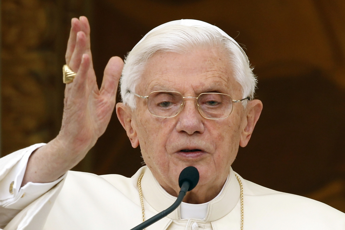 Pope Benedict cut-out was humped by Newport teacher Andrew Jones
