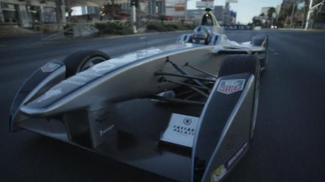 Formula E Race Car Debuts at CES Preview