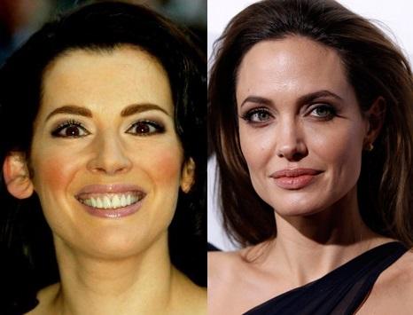 Nigella Lawson and Angelina Jolie