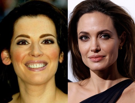 Nigella Lawson and Angelina Jolie
