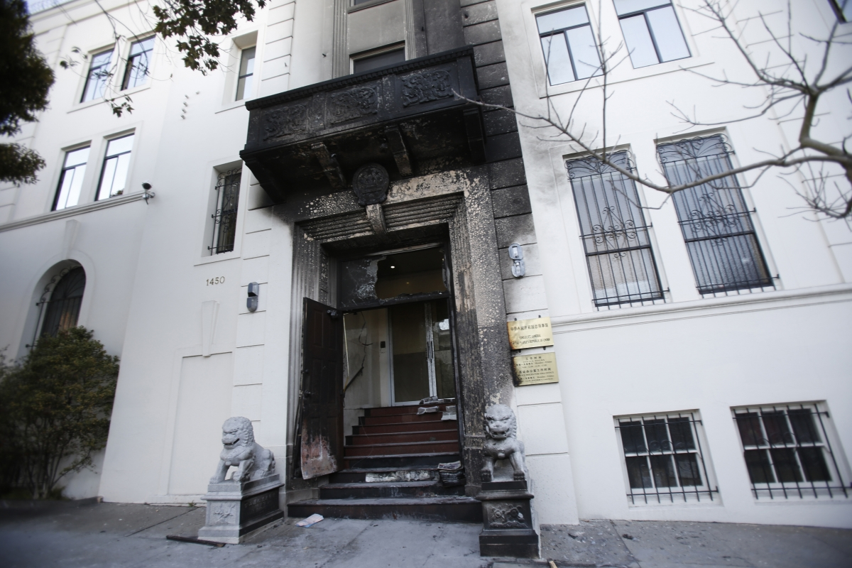 Chinese consulate San Francisco fire