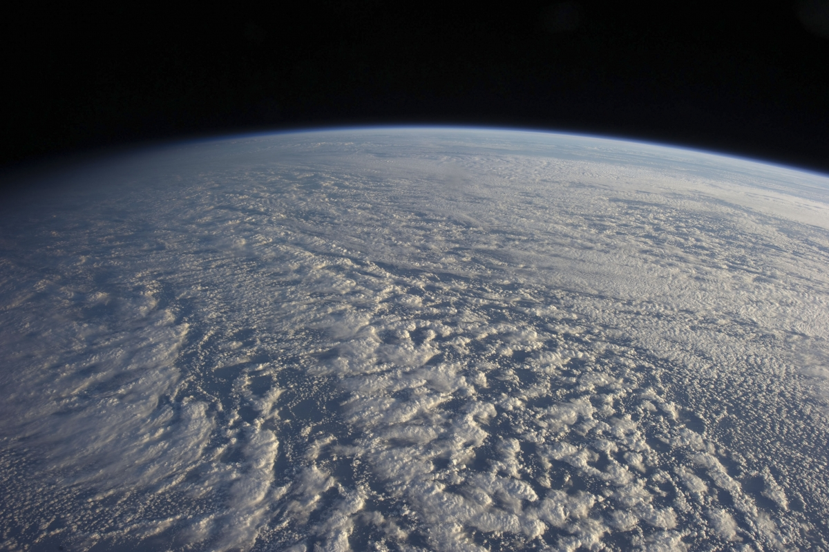 Planet Earth - A NASA handout shows a large presence of stratocumulus clouds photographed by the Expedition 34 crew members aboard the International Space Station above the northwestern Pacific Ocean about 460 miles east of northern Honshu, Japan on Janua