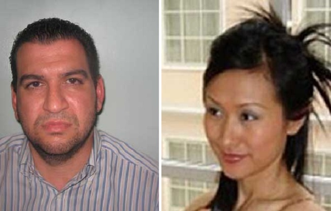 Jealous Robert Ekaireb (l) murdered pregnant wife Li Hua Cao, whose body has never been found