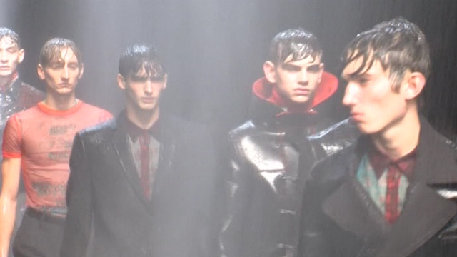 Downpours Inside and Out at London's Fashion Week For Men